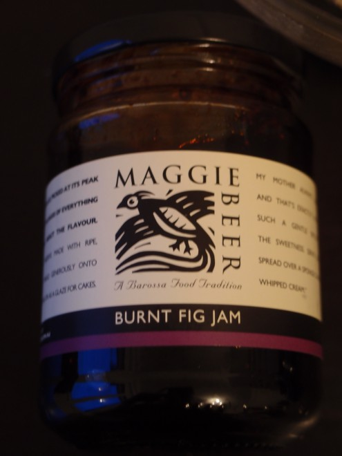Enter stage left: Maggie Beer Burnt Fig Jam, a little delight from the Barossa Valley, South Australia.