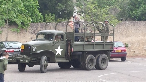8 Mai a.k.a Victory Day celebrations in France, where American GIs (despite lack of actual proof, we highly suspect they are not really Americans, which kind of spoils the fun) in trucks roll through little French villages declaring liberation.