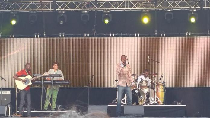 Debademba on the Lion Stage - their style of music is described as: Afrobeat, blues, with a nod at rock.