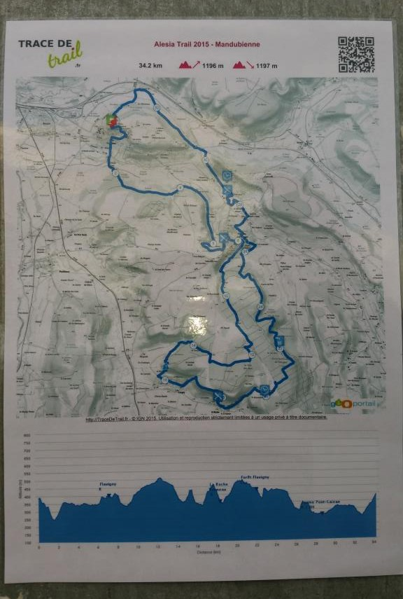 A map of the 34.2km route.