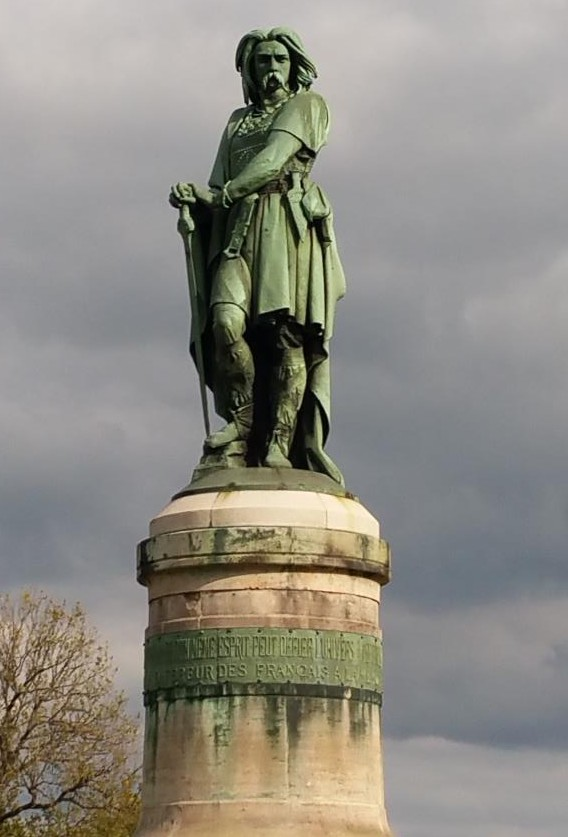 A statue of Vercingetorix in Alise-Sainte-Reine, commissioned by Napoleon III.